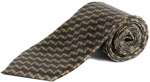 Uni Carress Geometric Print Men's Tie (Brown) RA-TY-105A