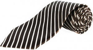 Uni Carress Striped Men's Tie (Brown) RA-TY-101A