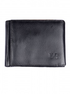 Uni Carress- 6 Card Slots Casual & Formal Black Artificial Leather Wallet For Men (Black) UC-MW-018