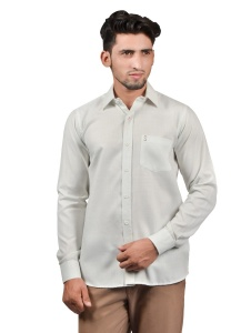 S9 Men Solid Formal Cotton Blend Shirt For Men(whitish)  -S9-FS-253F Casual